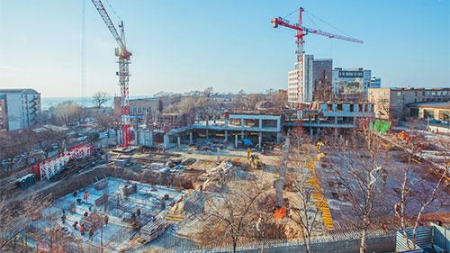 Постройка жилых комплексов